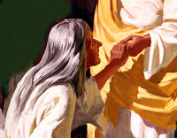 Jesus heals bleeding woman